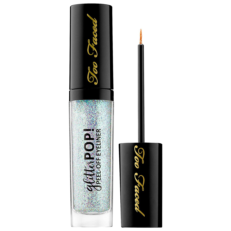 TOO FACED Glitter POP! Peel-Off Eyeliner - Glitter Ghost - holographic multi-sparkle glitter