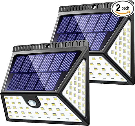 Amazon Com Zookki 82 Led Solar Lights Outdoor Solar Motion Sensor Lights With Wide Angle Waterproof Wall Light Wireless Solar Powered Security Lights For Garden Fence Deck Yard Garage Driveway 2 Pack Home