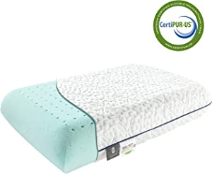 Fairpeak Ventilated Gel Memory Foam Bed Pillow for Sleeping- Bamboo Washable