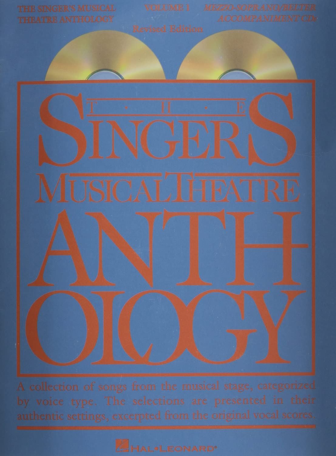 Amazon.com: The Singer's Musical Theatre Anthology - Volume 1, Revised CD  Mezzo-Soprano/Belter Accompaniment CDs: Musical Instruments