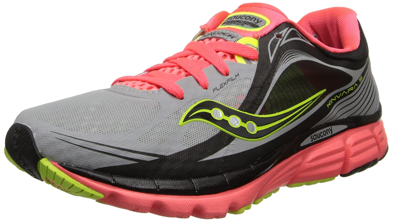 Saucony Women's Kinvara 5 Running Shoe B00GXYB4DO 8.5 B(M) US|Silver/Vizi Coral/Citron