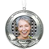 BANBERRY DESIGNS I Thought of You with Love Today Brushed Metal Photo Ornament - Memorial Ornament Engraved with Your Memory