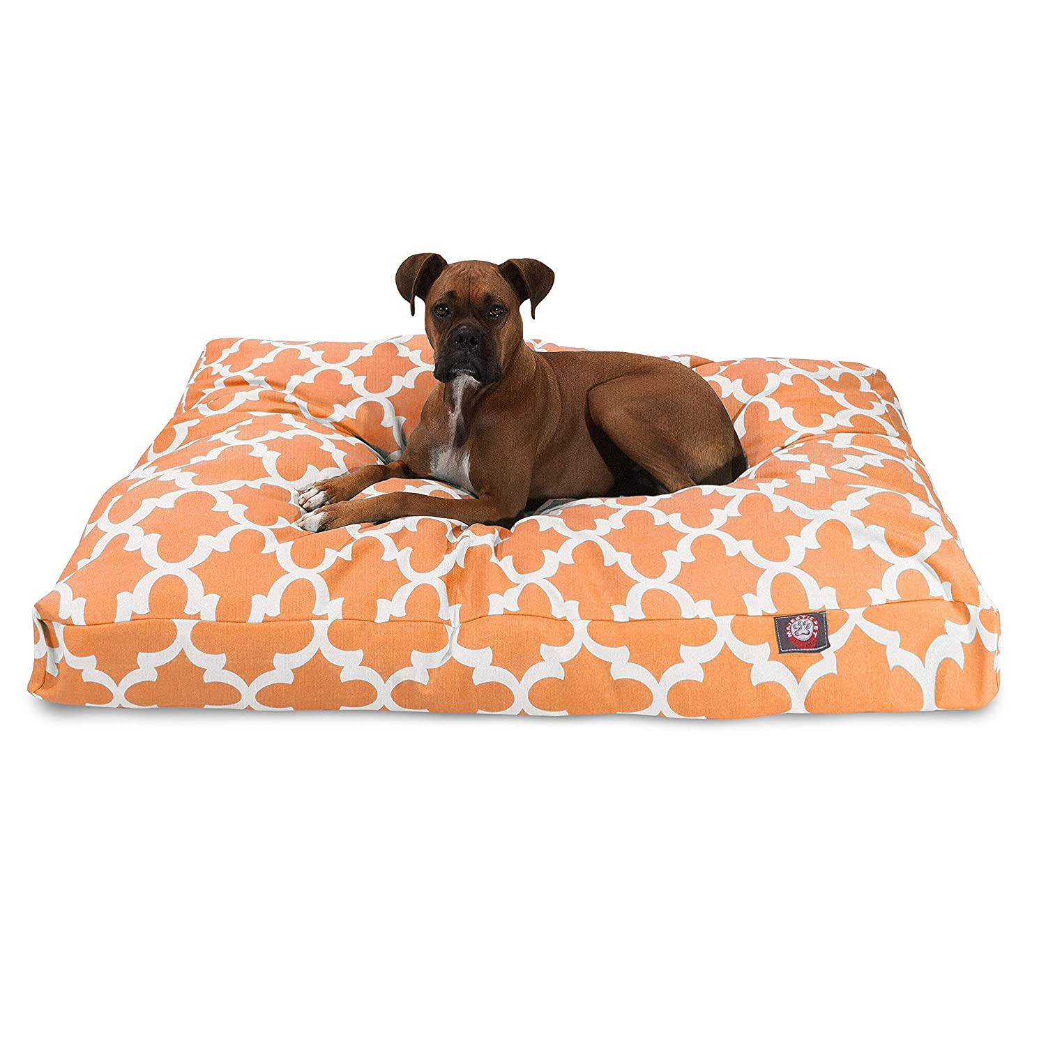 Peach XL Peach XL Majestic Pet Peach Trellis Extra Large Rectangle Indoor Outdoor Pet Dog Bed With Removable Washable Cover Products