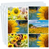 Dunwell Photo Album Refill Pages 12x12 - (4x6 Landscape, 10 Pack) Holds 120 4x6 Photos, 4x6 Photo Sleeves for 3 Ring Binder,