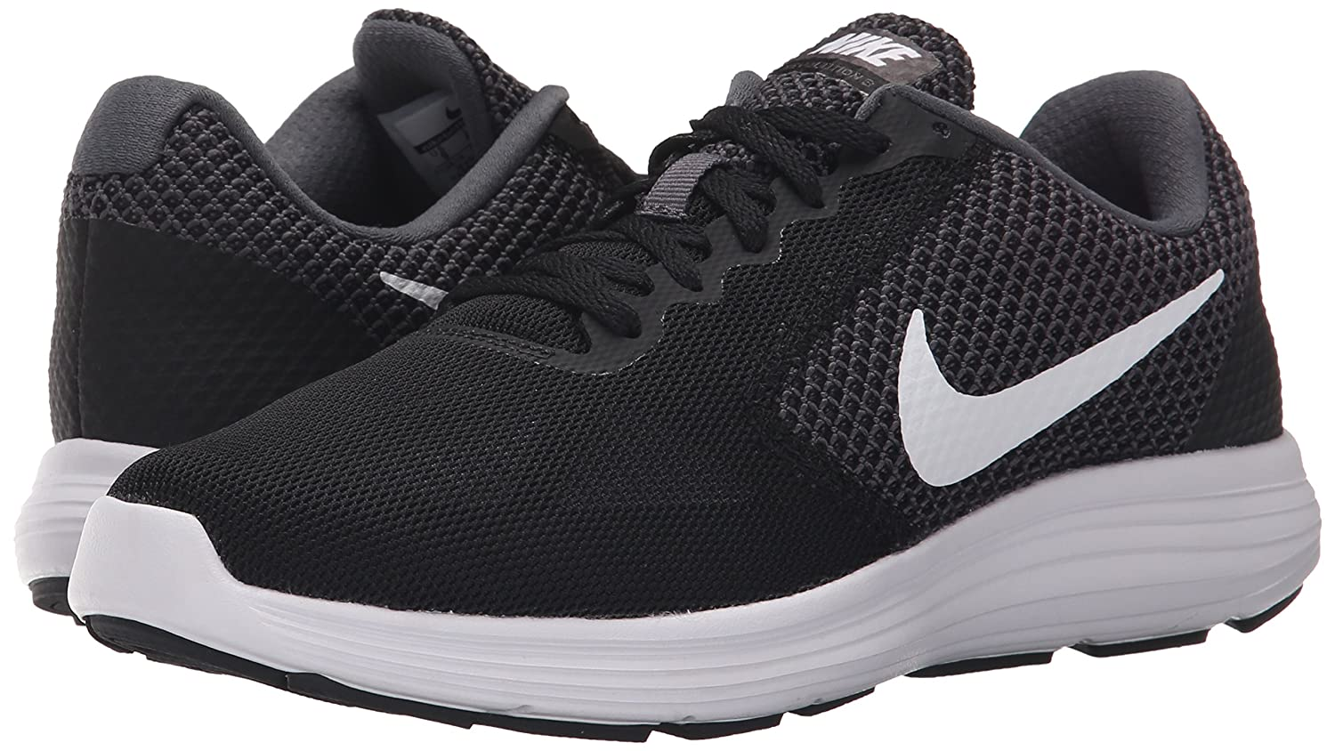 NIKE Women's Revolution 3 Running Shoe B010RSGO3Q 7 B(M) US|Dark Grey/White/Black