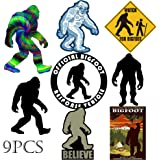 Kilmila Bigfoot Stickers Decals Gifts.(9PCS 2.7-4.0''). Bigfoot Gifts Sticker Bigfoot Toys Stickers Vinyl Decal Sticker Pack(