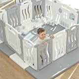 Foldable Baby playpen Baby Folding Play Pen Kids Activity Centre Safety Play Yard Home Indoor Outdoor New Pen with Drawing Bo