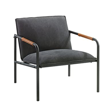 Sauder 422355 Boulevard Cafe Metal Lounge Chair, L: 25.98  x W: 28.35  x H: 26.77 , Charcoal Gray finish