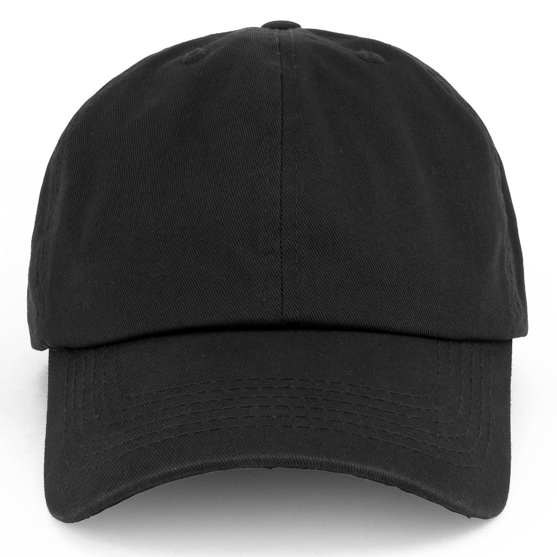Trendy Apparel Shop Oversize XXL Plain Unstructured Soft Crown Cotton Dad  Hat - Black at Amazon Men s Clothing store  de4ec7c16414