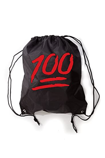 Amazon.com: Keep it 100 Emoji Keep it Hunnid Drawstring Gym Bag ...