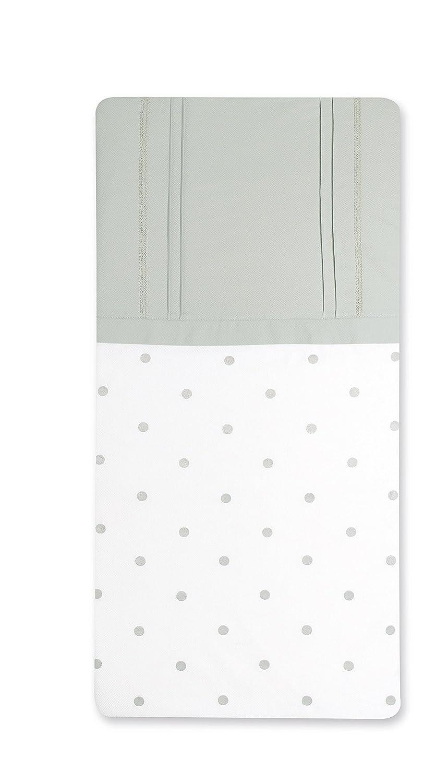 Bimbi Romantic–Bettbezug, 62x 125cm, weiß und grau