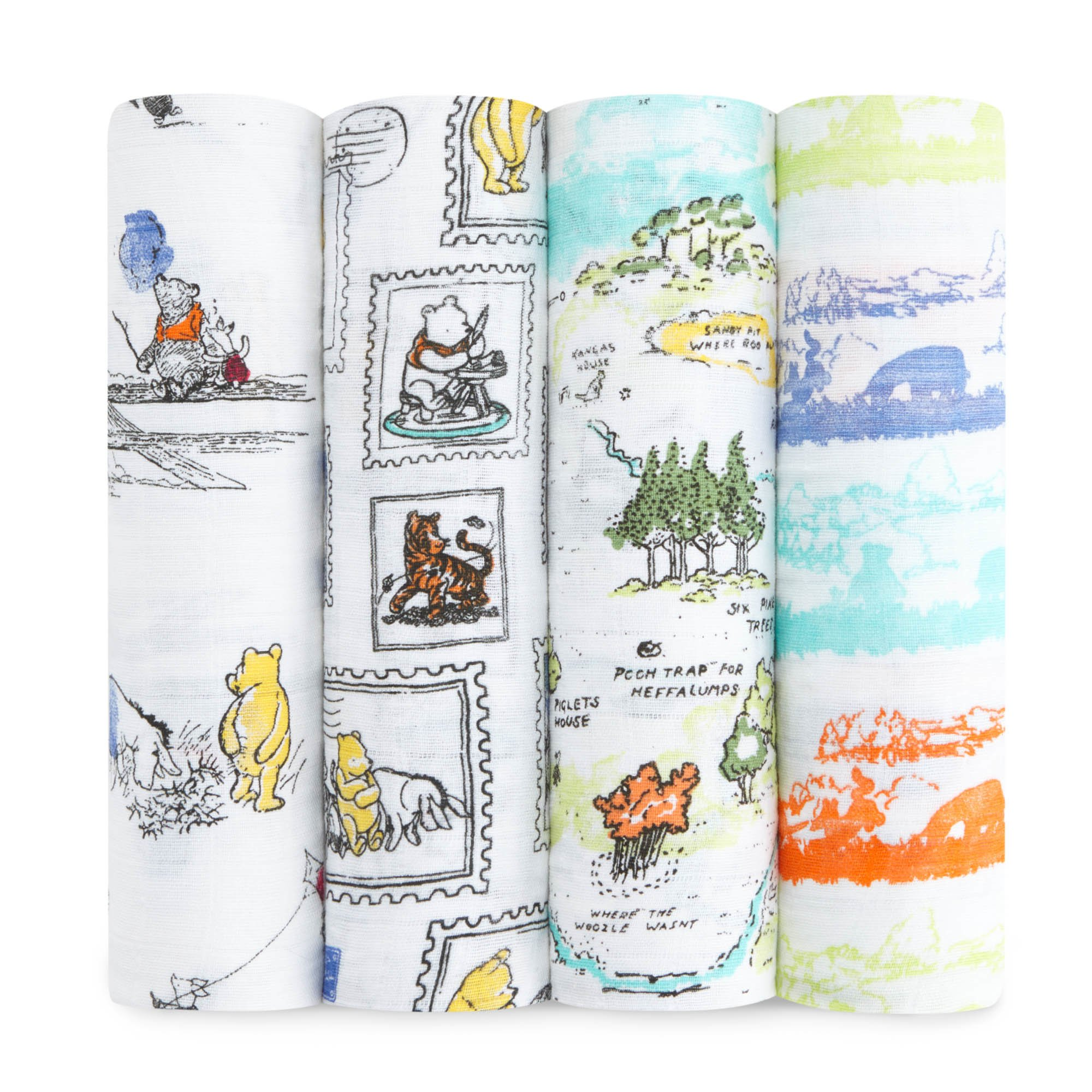 aden + anais Disney, Swaddle Blanket | Boutique Muslin Blankets for Girls & Boys | Baby Receiving Swaddles | Ideal Newborn & Infant Swaddling Set | Perfect Shower Gifts, Winnie The Pooh by aden + anais