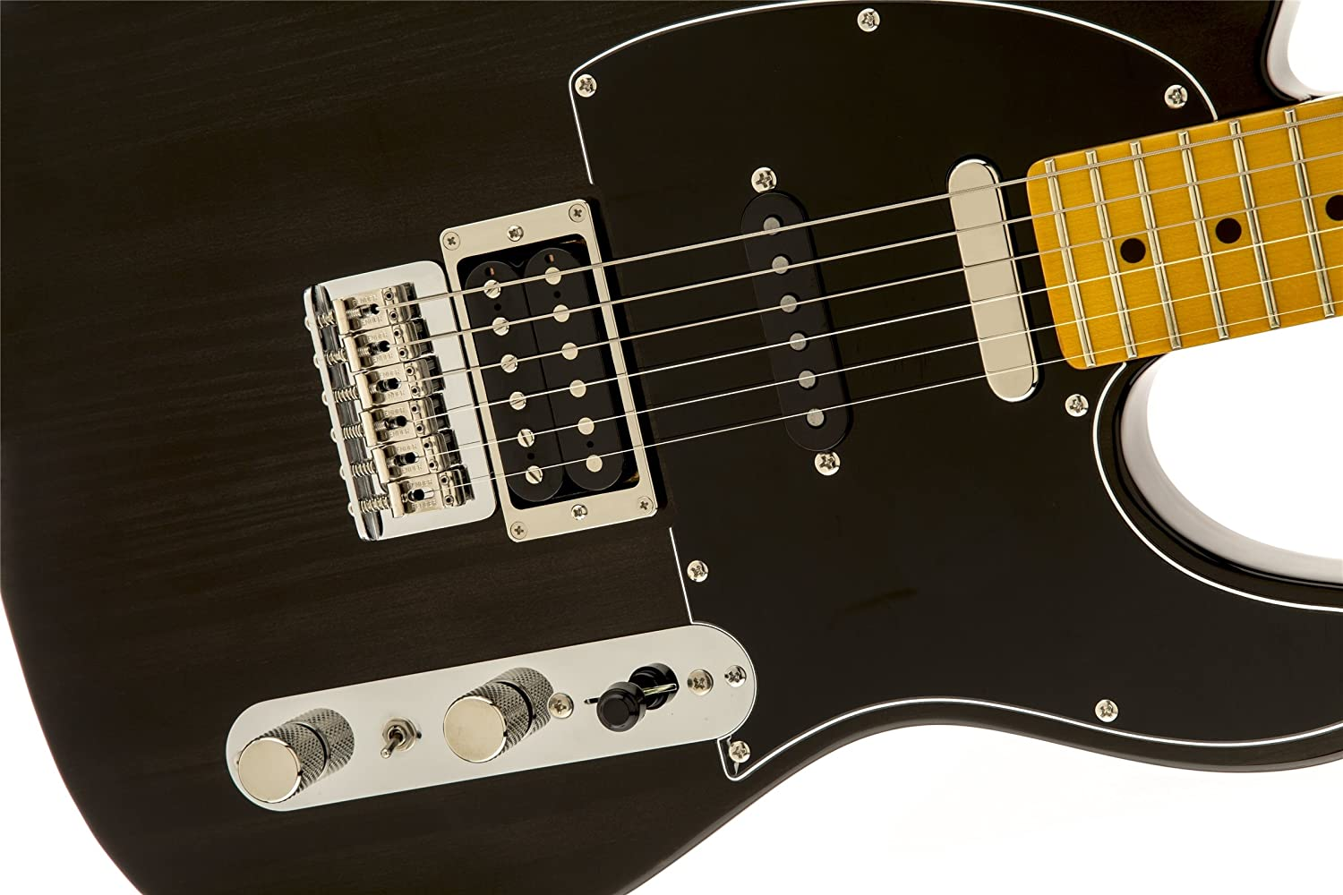 Amazon.com: Fender Modern Player Tele Plus Electric Guitar, Charcoal Transparent, Maple Fretboard: Musical Instruments