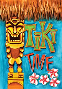 "Toland Home Garden 112617 Tiki Time 12.5 x 18 Inch Decorative, Garden Flag (12.5"" x 18"")"