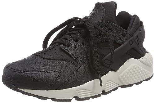 b441796bf323 Nike Air Huarache Run Premium Women s Shoes Black Light Bone 683818-010 (6