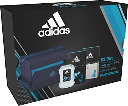 Pack Regalo Adidas Ice Dive EDT 100 ml + as 100 + Toiletry Large: Amazon.es: Belleza