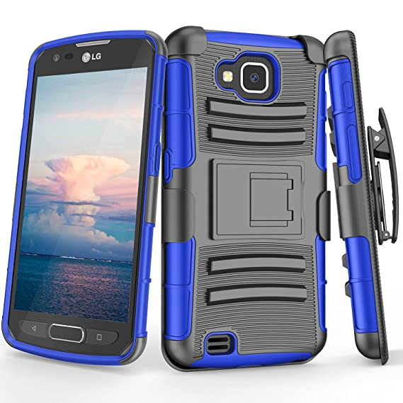 san francisco c6f36 8a134 LG X Venture Case, TILL [Knight Armor] Heavy Duty Full-body Rugged Holster  Resilient Armor Case [Belt Swivel Clip][Kickstand] Combo Cover Shell For LG  ...
