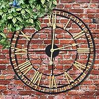 Grande horloge murale d'extérieur, gros chiffres romains, grand