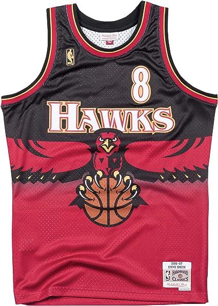 Mitchell & Ness Atlanta Hawks Steve Smith 1996 Road Swingman Jersey