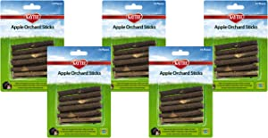 Kaytee 5 Pack of Apple Orchard Sticks, 10 Count Each, Natural Wood Chews for Rabbits and Other Small Animals