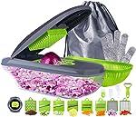 Vegetable Chopper Mandoline Slicer Food Cutter, 17 in 1 Manual Onion