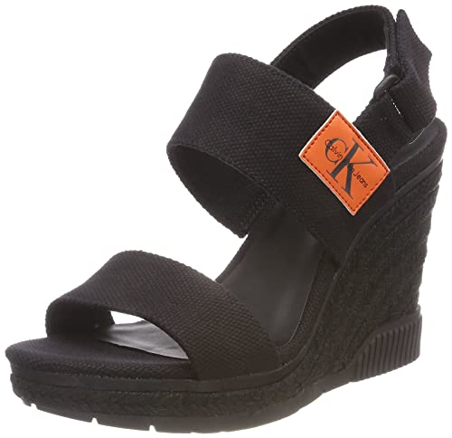 Layla Canvas, Zapatos de Tacón con Punta Abierta para Mujer, Rosa (Dsk 000), 36 EU Calvin Klein Jeans