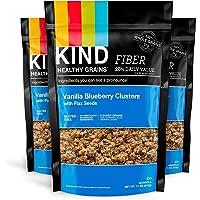 KIND 健康谷物格兰诺拉麦片群,香草蓝莓与亚麻籽,无麸质,11 盎司(约 311.8 克)袋,3 包