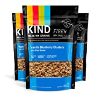 KIND Healthy Grains Clusters, Vanilla Blueberry with Flax Seeds Granola, 10g Protein...