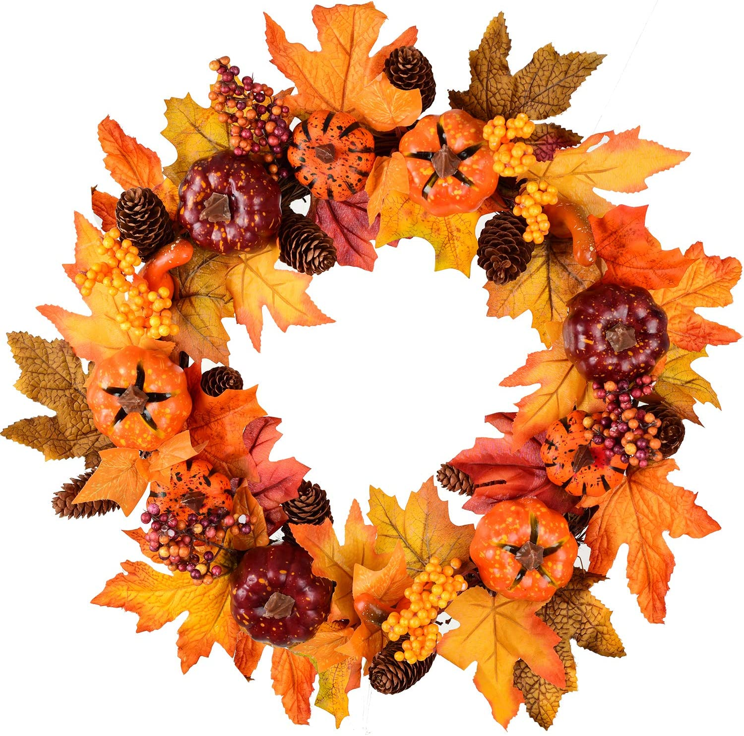 Amazon Com Silk Fall Front Door Wreath 16 Inches Large Fall