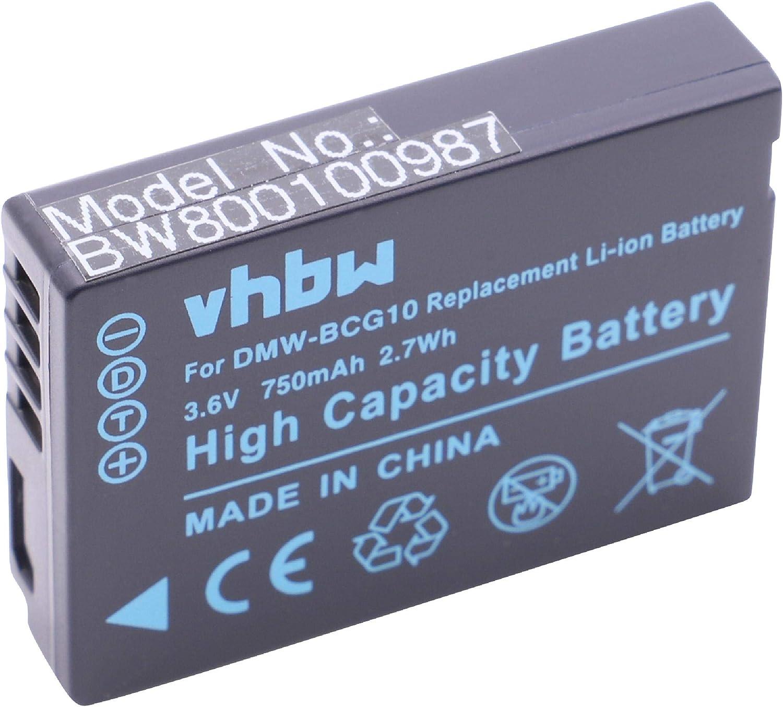 Original VHBW BATERIA para Panasonic dmc-tz8 dmc-tz10 dmc-zx3