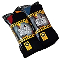 12x Mens Hard Wearing Work Socks - Safety Boot Socks - Excellent Quality - Warmth and Comfort Guaranteed Size 6-11 Black