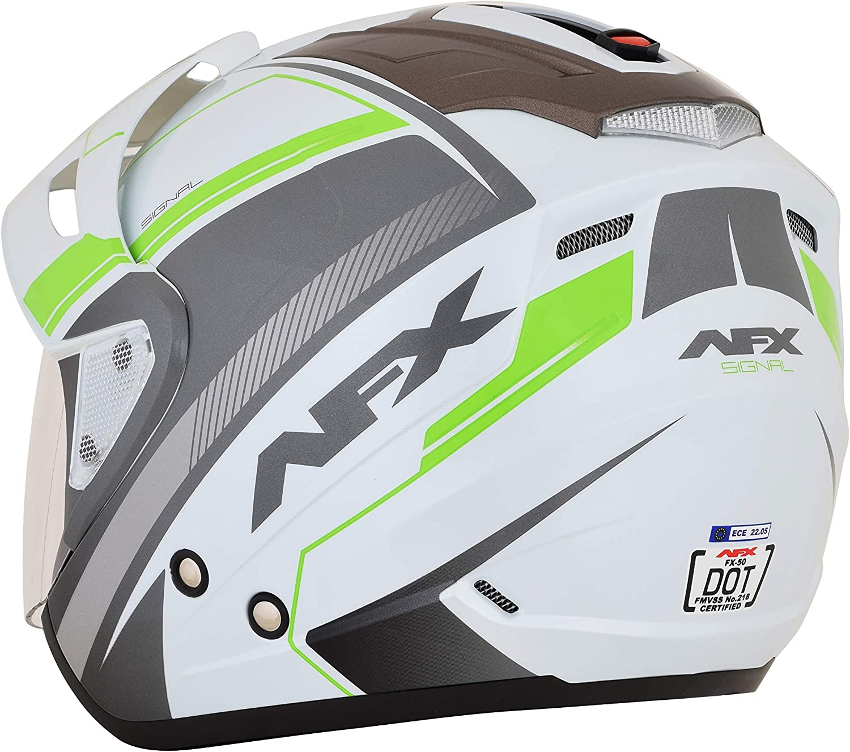 AFX FX-50 Signal Open Face Motorcycle Helmet Silver