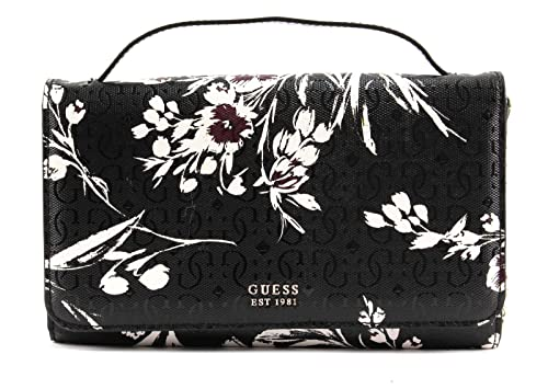 GUESS Tamra Wallet On A String Black Floral: Amazon.co.uk