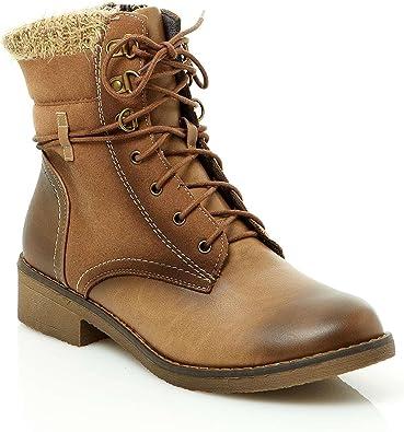 Bonobo Jeans Boots à Lacets Marron: : Chaussures