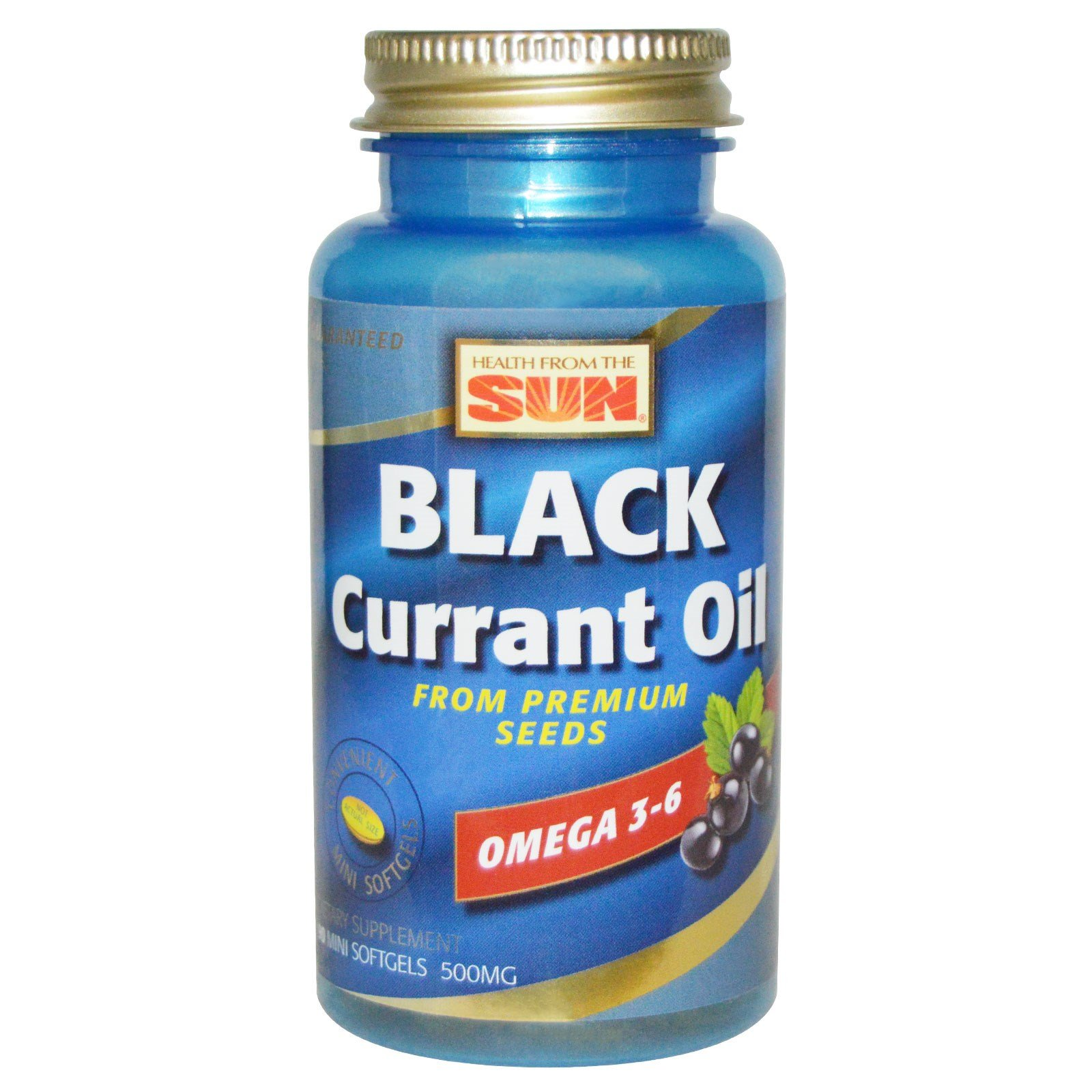 Health From The Sun, Black Currant Oil, 500 mg, 90 Mini Softgels - 2PC