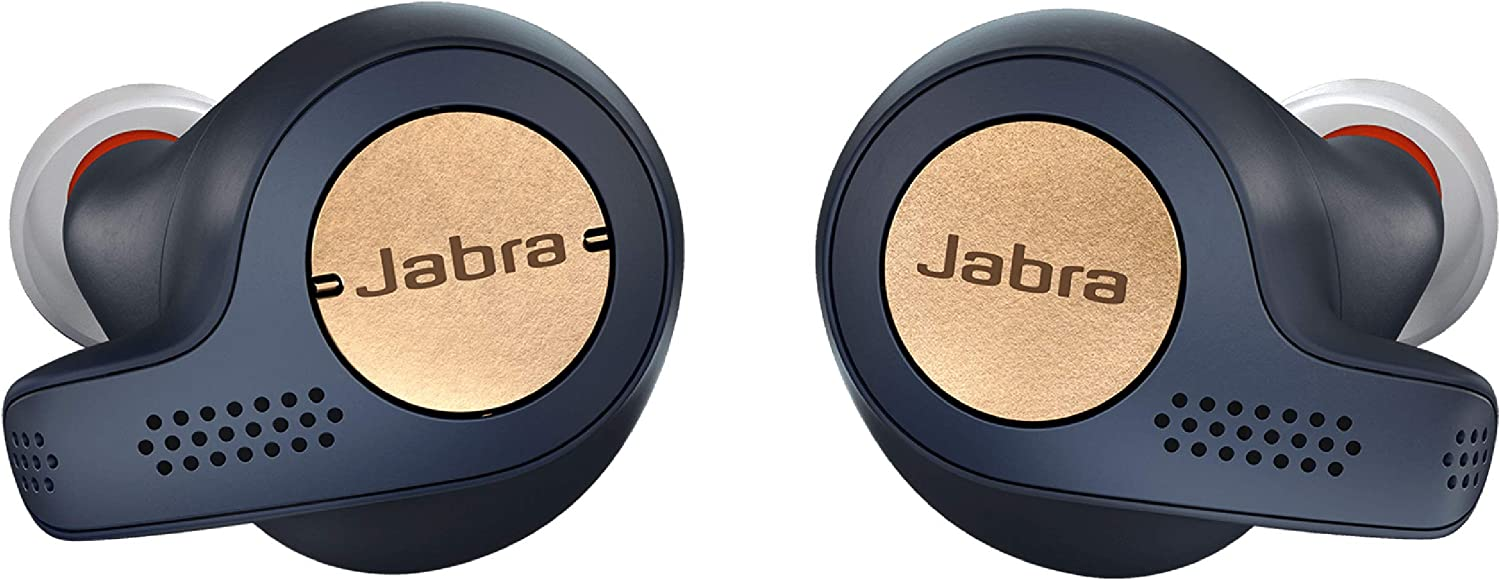 Amazon Com Jabra Elite Active 65t Earbuds True Wireless Earbuds With Charging Case Copper Blue Bluetooth Earbuds With A Secure Fit And Superior Sound Long Battery Life And More 100 99010000 02