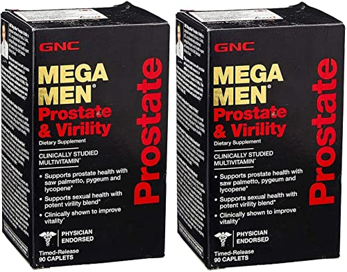 GNC Mega Men Prostate and Virility 90 Caps Two Bottles of 90 Caplets