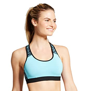 4552d95071a C9 Champion Women s Power Core Compression Padded Racerback Medium Support  Sports Bra (X-Small