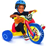 """Mickey and the Roadster Racers 15"""" Fly Wheel Junior Cruiser Ride-on, Ages 3-7, Yellow/Red/Blue, 20"""" W x 22.5"""" H x 32.83"""" L"""