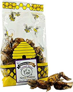 product image for Queen Bee Gardens Natural Honey Caramel Pralines Candy Chews – 5.87 oz – Caramel Kisses