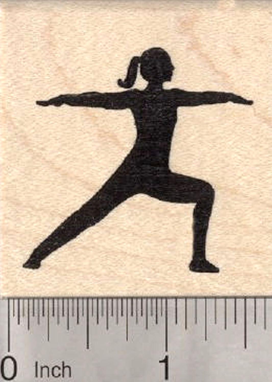 for Yoga or Meditation Breathe Rubber Stamp