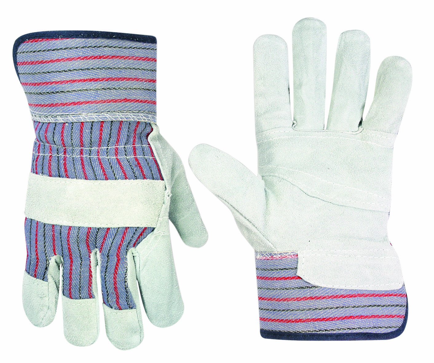 Custom Leathercraft 2046 Work Gloves with Safety Cuff and Wing Thumb, 1-Pair 1