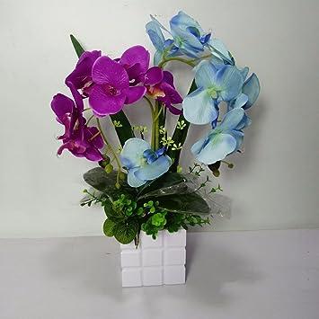 Wrxxhzhr Kunstliche Blume Phalaenopsis Pu Topf Orchidee Dekoration