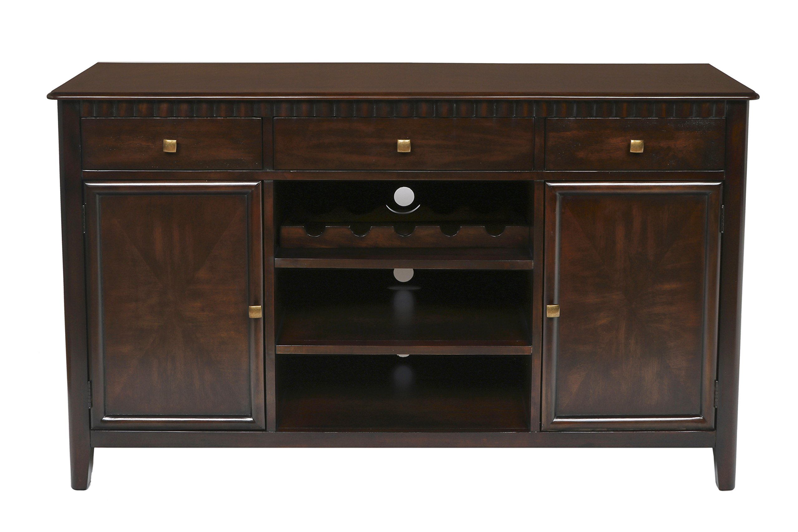 New Classic Edgemont Entertainment Console/Server, Distressed Walnut
