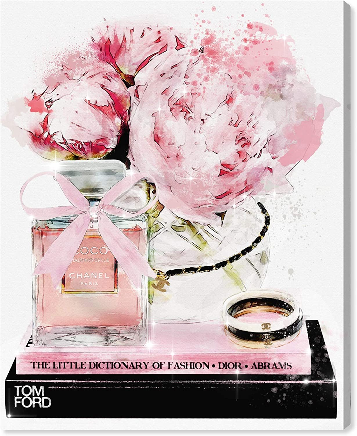 Oliver Gal 'Elegant Perfume and Morning' The Floral and Botanical Wall Art Decor Collection Contemporary Premium Canvas Art Print