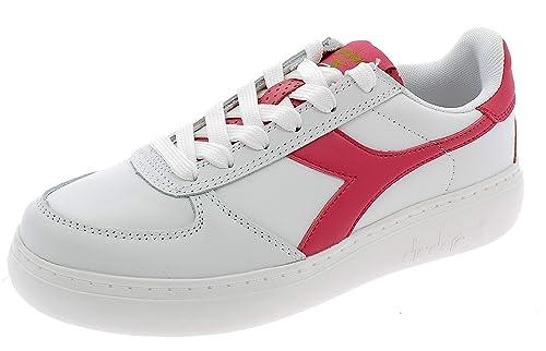 Diadora , Damen Sneaker Weiß WeißRot: : Schuhe