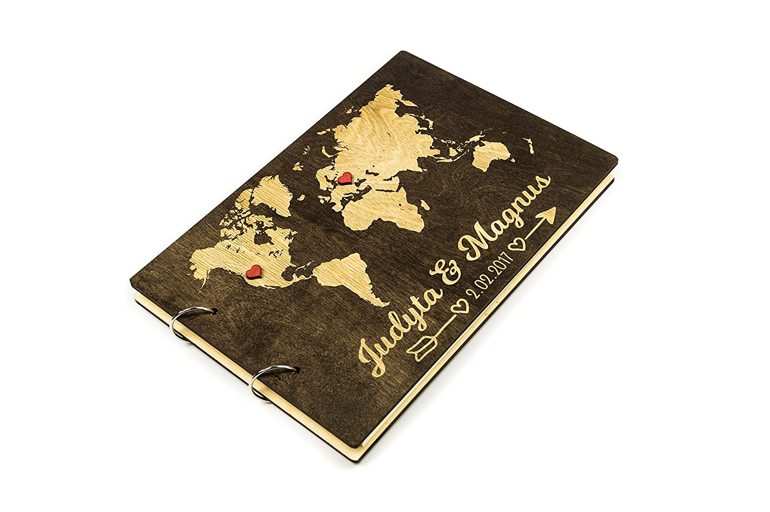 Wedding Calligraphy Rustic Wedding Guest Book Wedding Album Custom Guest Book Wooden Guest Book Unique Guest Book Ideas World Map
