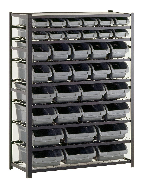 amazoncom sandusky lee ur4416bin36 black zinc steel bin shelving unit with 36 storage bin 57 height x 44 width x 16 depth pack of 2 kitchen - Industrial Storage Bins