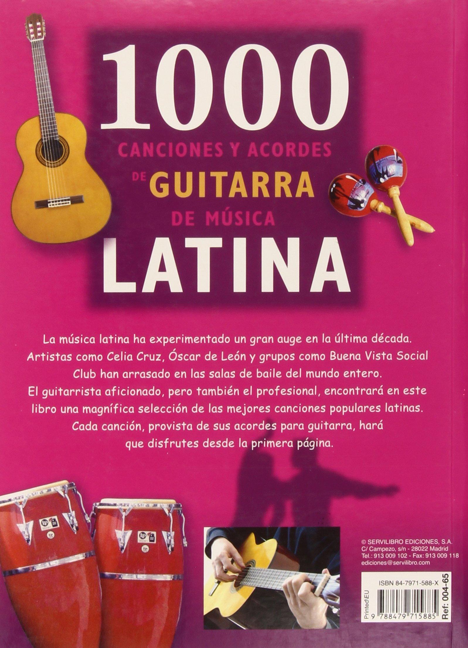 1000 Canciones Con Acordes De Guitarra - Canciones Latinas: Amazon ...
