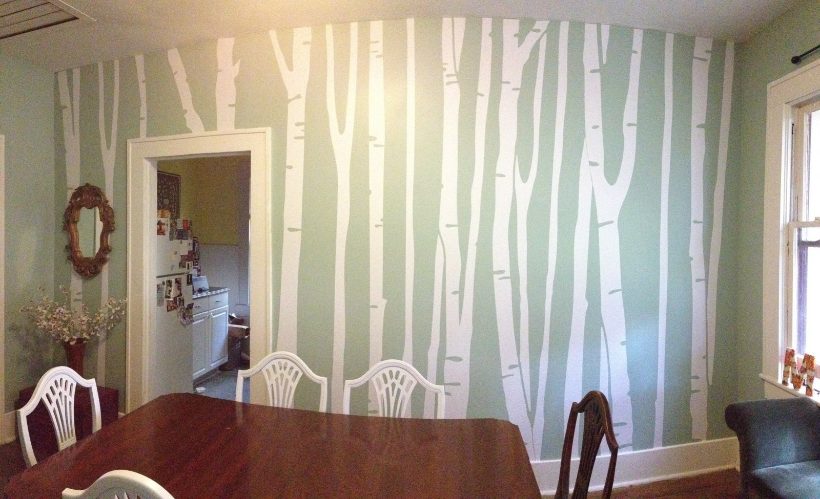 Large Wall Birch Tree Decal Forest Kids Vinyl Sticker Removable (9 Trees) 108'' (9 Feet) Tall #1109